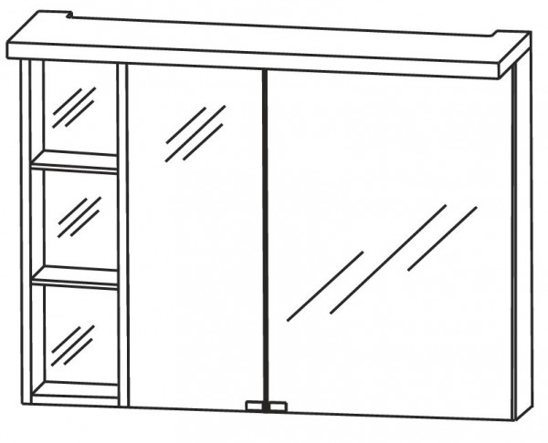 Puris Crescendo Spiegelschrank 90 cm breit S2A439L26