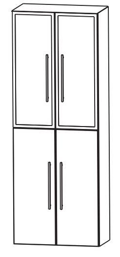 Puris Fine Line Bad-Hochschrank 60 cm breit HNA03615