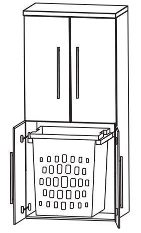 Puris Fine Line Bad-Mittelschrank 60 cm breit MNA836A1W