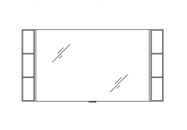 Pelipal Solitaire 9025 Bad-Spiegel 163 cm breit 9025-SP 04