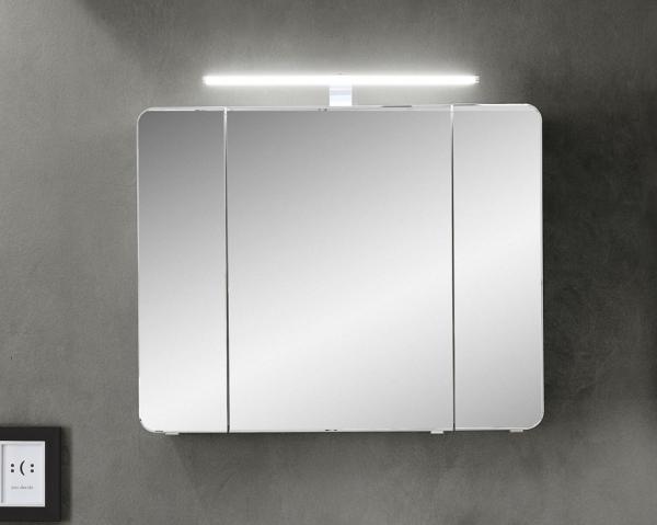 Pelipal Fokus 4005 Spiegelschrank 90 cm breit mit Aufsatzleuchte 992.819002 / 992.829002