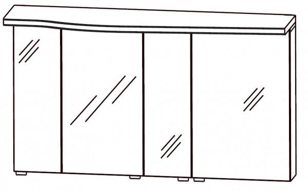 Puris Swing Spiegelschrank 140 cm breit SET40143R