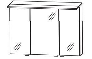 b.straight - Spiegelschrank inkl. Beleuchtung 90 cm breit