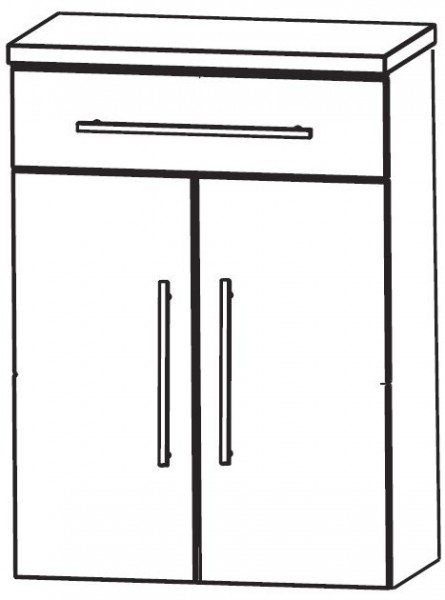 Puris Crescendo Bad-Highboard 60 cm breit HBA556A7M