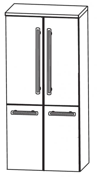 Puris Brillant Bad-Mittelschrank 60 cm breit MNA8360A1