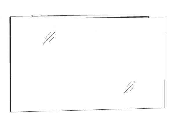 Marlin Bad 3130 - Azure Badspiegel 120 cm breit SPFLA12