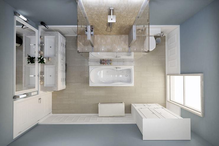 Grundriss vom Badezimmer