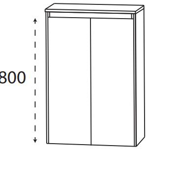 Puris Xpression - Highboard HBA516DGL - 60 cm