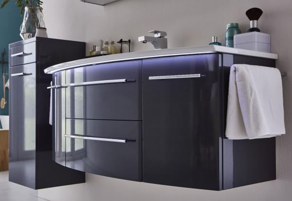 Marlin Bad 3040 - CityPlus Waschtisch mit Unterschrank 122 cm breit, mit Keramikbecken