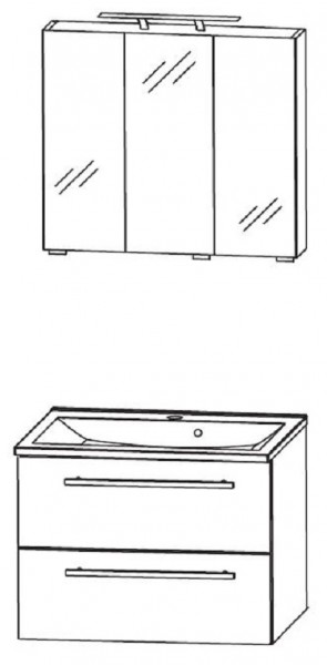 Puris Fresh Badmöbel Set 70,6 cm breit – Set 2