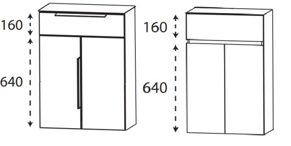Puris 4Landa - Highboard / 60 cm