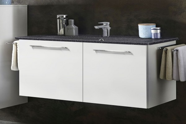 Marlin Bad 3020 - Life Waschtisch mit Unterschrank 100 cm breit, mit 2 Türen (LOFT)