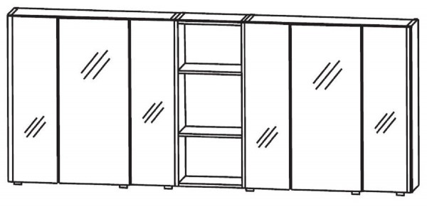 Puris Linea Bad-Spiegelschrank 170 cm breit S2A431779