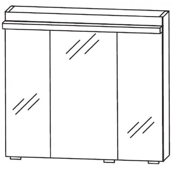 Puris Ace Spiegelschrank 70 cm breit S2A437S72