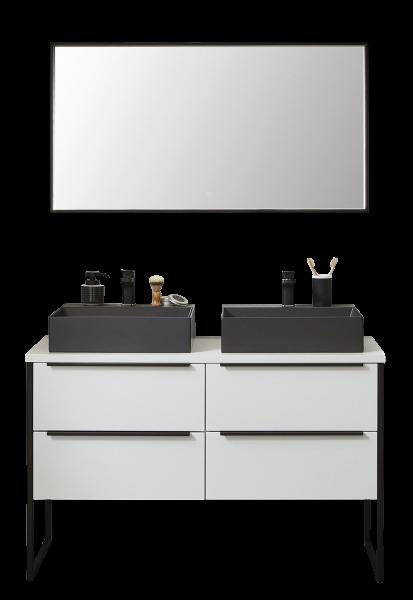 Puris Aspekt Badmöbel Konfigurator - 120 cm breit / Doppelwaschtisch