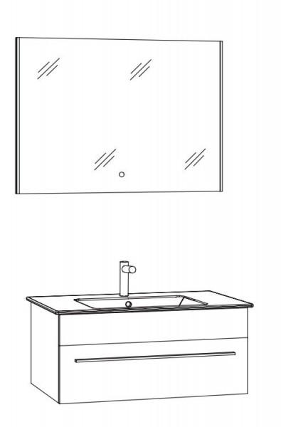 Marlin Bad 3260 Badmöbelset mit Flächenspiegel / 80 cm