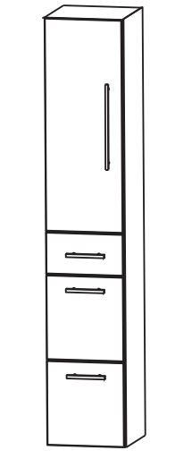 Puris Kao Line Bad-Hochschrank 30 cm breit HNA0930 L/R