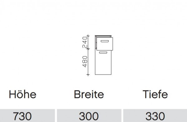 Pelipal Solitaire 6905 Bad-Highboard UGL513017 / OKT013033 mit Drehtür und Auszug