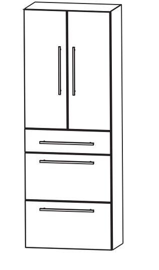 puris fine line bad hochschrank 60 cm breit hna0960. Black Bedroom Furniture Sets. Home Design Ideas