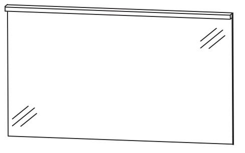 Puris Aspekt Badspiegel 120 cm breit