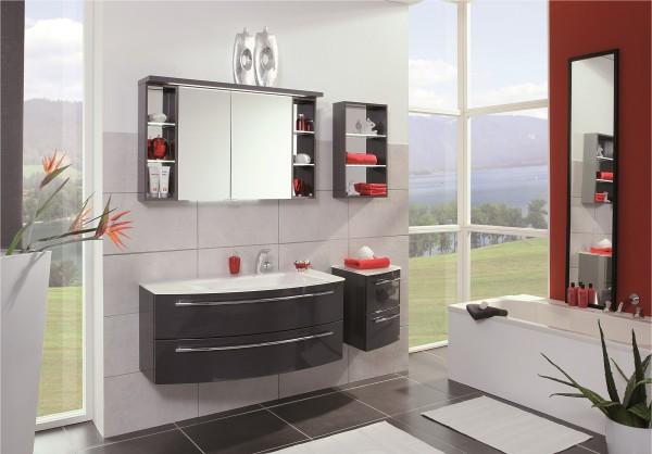 Puris Crescendo Badmöbel-Set 120 cm breit kombinierbar - Becken rechts