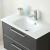 Glas-Waschtisch, Farbe Klarglas weiß lackiert, 77 cm breit