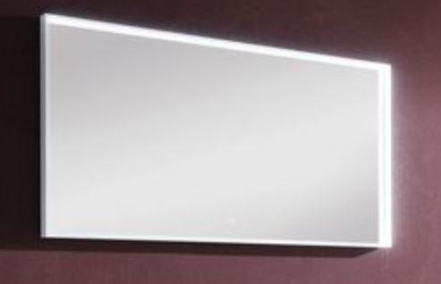 b.straight - Flächenspiegel inkl. Beleuchtung 120 cm breit