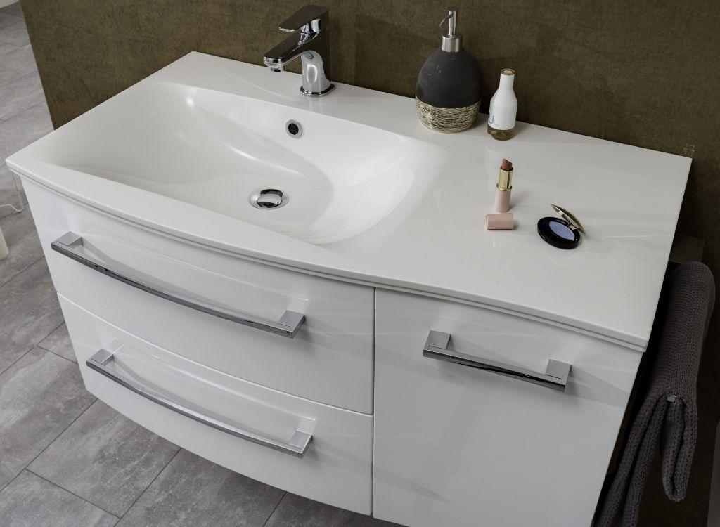 marlin bad 3120 waschtisch mit unterschrank 90 cm breit badm bel 1. Black Bedroom Furniture Sets. Home Design Ideas