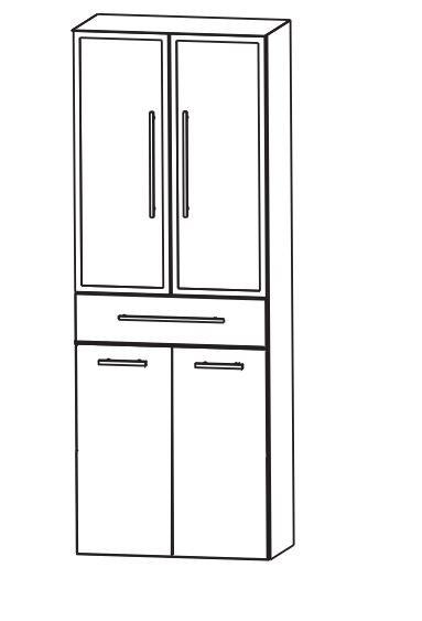 Puris Fine Line Bad-Hochschrank 60 cm breit HNA0561W