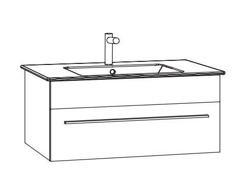 Marlin Bad 3260 Waschtisch mit Unterschrank WKHBS7 / 80 cm
