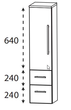Puris Protection1 - Mittelschrank MNA773A01 L/R / 30 oder 40 cm