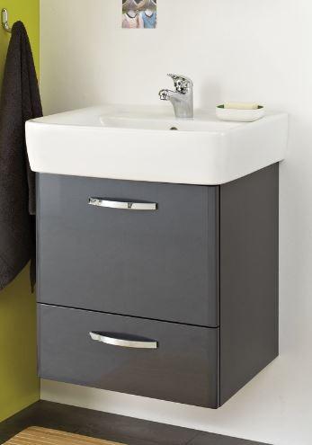 pelipal 327 velo waschtisch mit unterschrank 50 55 cm. Black Bedroom Furniture Sets. Home Design Ideas