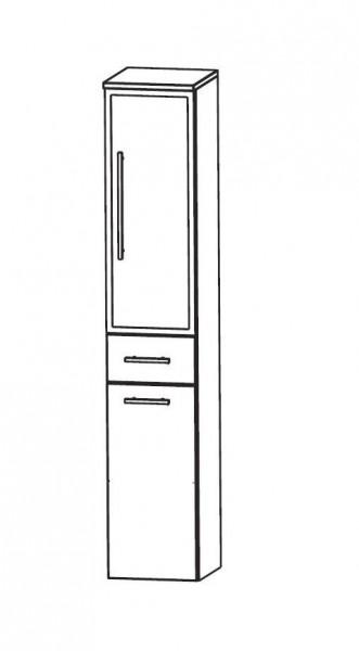 Puris Speed Bad-Hochschrank 30 cm breit mit Wäschekippe HNA053BW