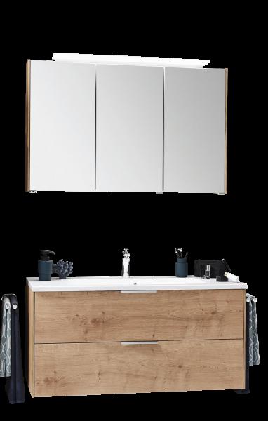 Puris d.light Badmöbel Set 123,2 cm breit, mit Einzelwaschtisch - Set 1
