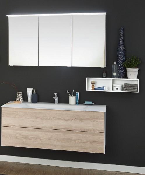 Puris Ice Line Badmöbel Set 122 cm breit mit Spiegelschrank