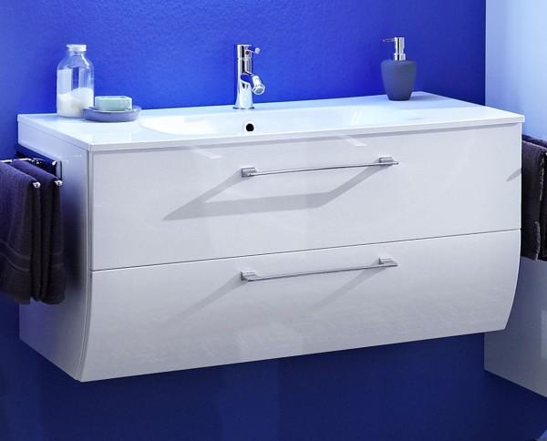 Marlin Bad 3130 - Azure Waschtisch mit Unterschrank 100,5 cm breit
