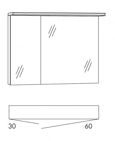 Marlin Bad 3090 - Cosmo Spiegelschrank 90 cm breit SSAOS36 / SSAOS63