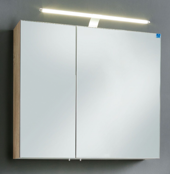 Marlin Bad 3030 - Christall Spiegelschrank 80 cm breit STOA8S / STOB8