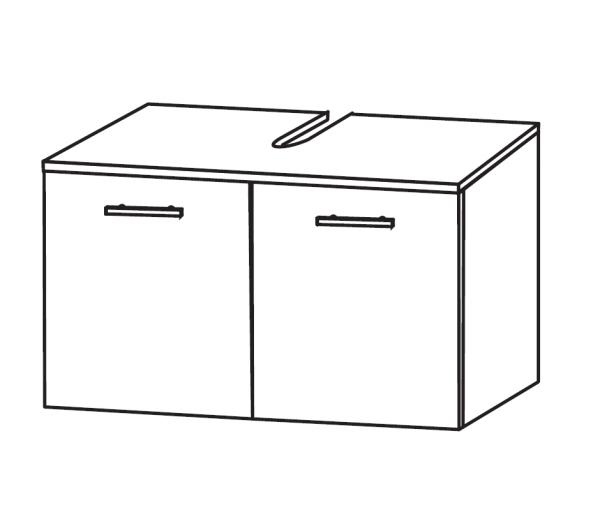 Puris Bad-Waschbeckenunterschrank 60 cm breit WUA216A