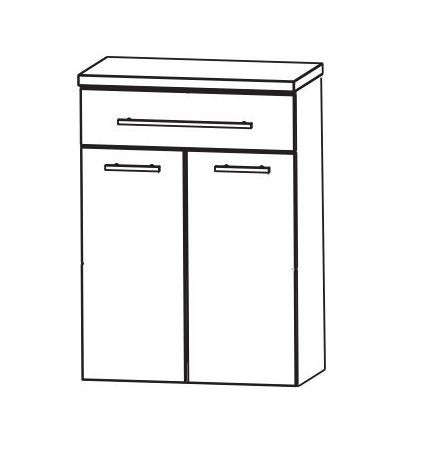 Puris Kao Line Bad-Highboard 60 cm breit HBA556A7W