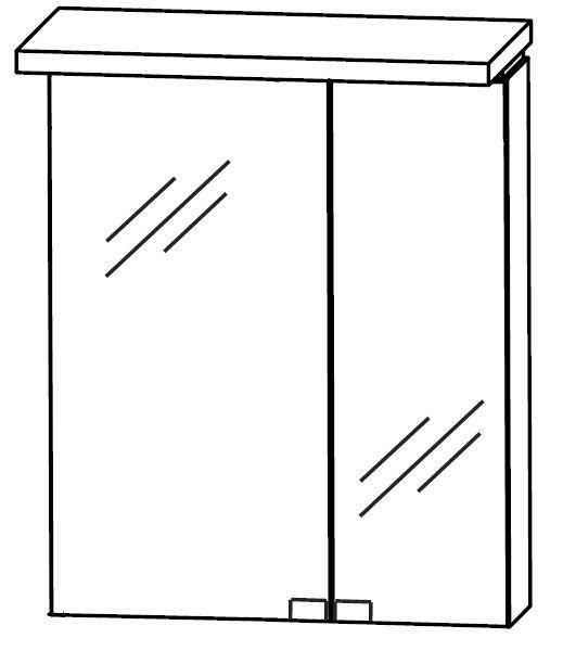 Puris Cool Line Spiegelschrank 60 cm breit S2A436A20 L/R