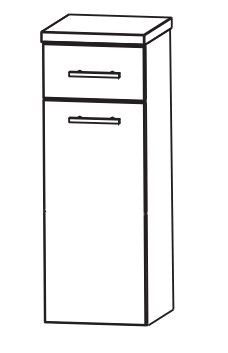Puris Fine Line Bad-Highboard 30 cm breit HBA553A7W