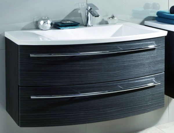Puris Crescendo Waschtisch mit Unterschrank 90 cm breit - Becken rechts