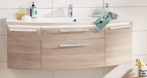 Puris Vuelta Waschtisch mit Unterschrank 140 cm breit SETVU14 1, Einzelwaschtisch-Lösung