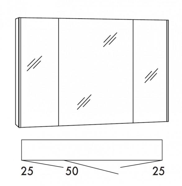 Marlin Bad 3290 Bad-Spiegelschrank 100 cm breit SADA10