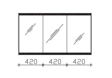 Pelipal Solitaire 7025 Spiegelschrank 128 cm breit SEED00212