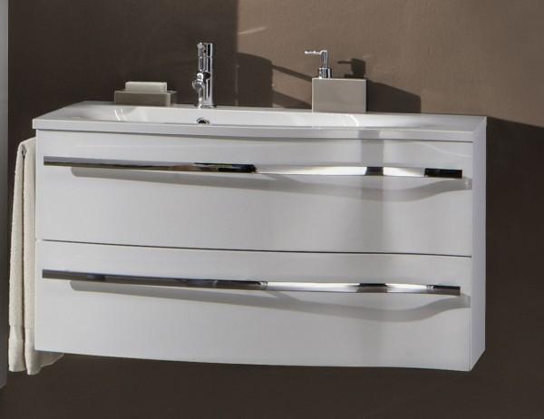 Marlin Bad 3160 - Motion Waschtisch mit Unterschrank 90 cm breit - Becken links