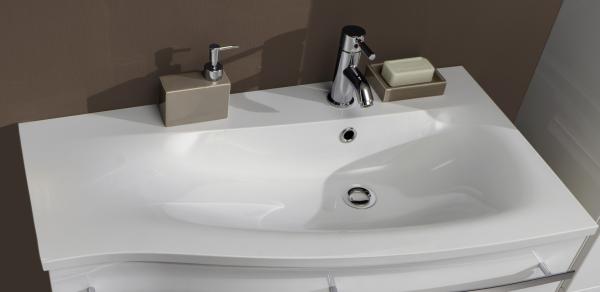 Marlin Bad 3160 - Motion Waschtisch - Becken rechts- maßvariabel