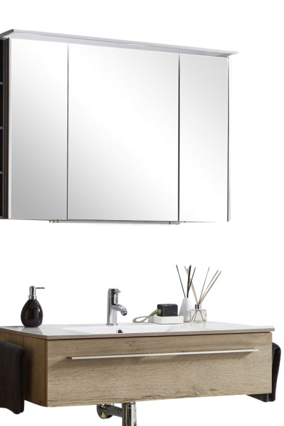 Marlin Bad 3260 Badmöbelset mit Spiegelschrank / 100 cm - Variante 2
