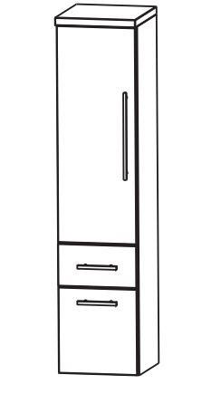 Puris Fine Line Bad-Mittelschrank 40 cm breit MNA884A7M L/R